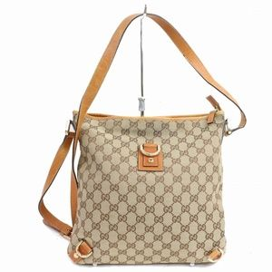 Auth Gucci Crossbody Bag Light Brown #1210G16